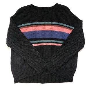 American Eagle striped comfy knit crew sweater